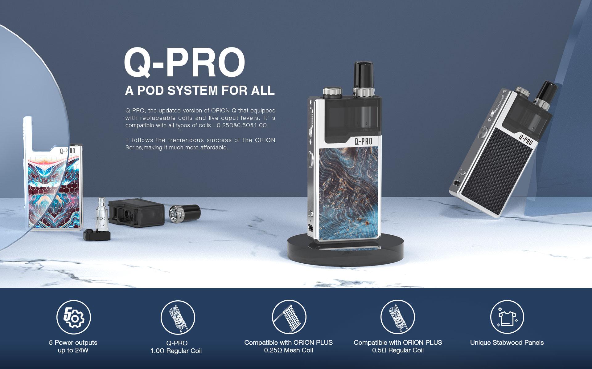Q-Pro Kit, Lost Vape dà un seguito ad Orion