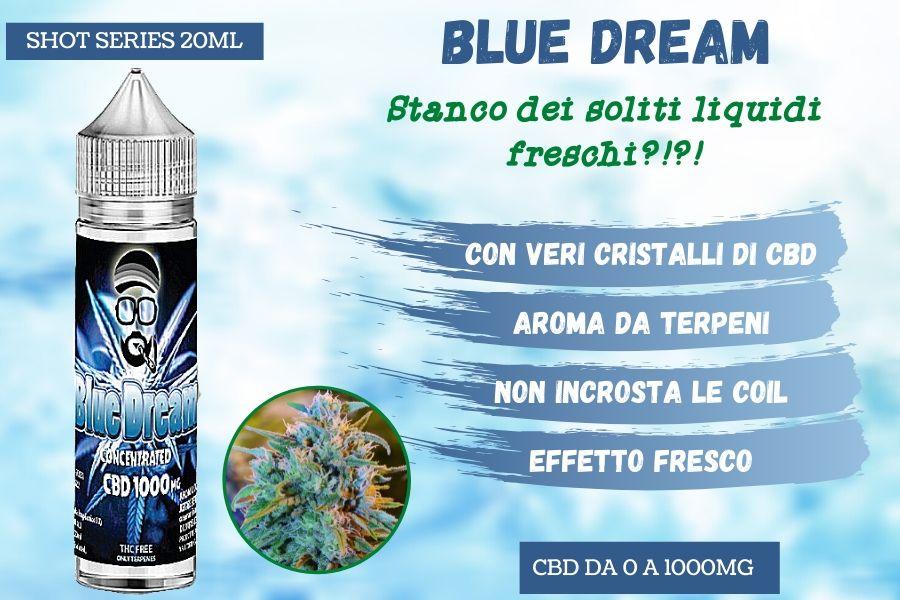 Blue Dream, il primo liquido gusto Ganja effetto Ice