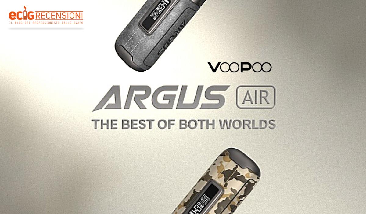 Argus Air, la Pod Mod versatile di VooPoo (Recensione)